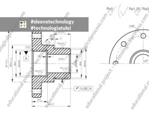 sleeve - bushing - technological symbols - proces technologiczny tulei - tuleja
